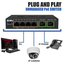 BV-Tech 4 Port PoE+ Switch with 2 Ethernet Uplink and Extend Function – 60W – 80 image 6