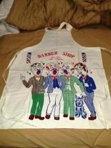 Vintage Apron Full Size Barber Shop Quartet Hai... - $24.99
