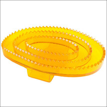 Horze Western Tack Flexible Rubber Horse Transparent Curry Comb Large Or... - $8.86