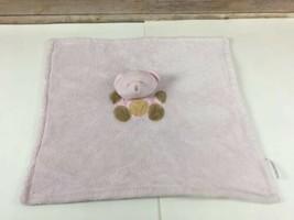 Baby Gear Pink Bear Lovey Hearts Security Blanket Stuffed Animal - $10.17