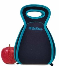 FlatBox Original 2-in-1 Lunch Bag + Placemat black/teal - $21.97