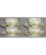Set (4) Theodore Haviland ROSALINDE PATTERN Cups and Saucers NEW YORK - $79.19