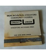 Iron Mountain Kingsford Michigan Community Credit Union Matchbook Advertise - $9.89