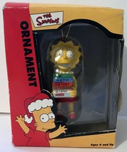 THE SIMPSONS Holiday Ornament LISA W/ Schoolbooks 2002 In Box Collectible! - $14.94