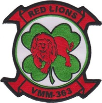 USMC VMM 363 Marine Medium Tiltrotor Squadron Red Lions Patch - $11.87