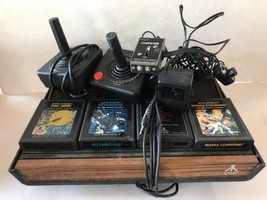 Atari CX-2600 Console Video Game System Controllers Games Lot Bundle WOR... - $108.89