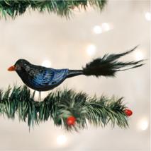 OLD WORLD CHRISTMAS RAVEN MYSTERIOUS BIRD GLASS CLIP-ON CHRISTMAS ORNAME... - $10.88
