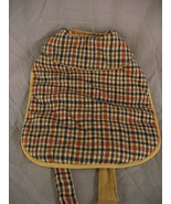 Dog Jacket Size Small Brown And Black Plaid Cape Style Collared  - $5.84