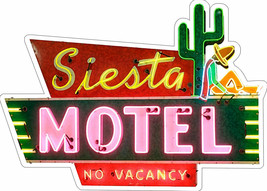 Siesta Motel No Vacancy Desert Stay Plasma Cut Metal Sign - $34.95