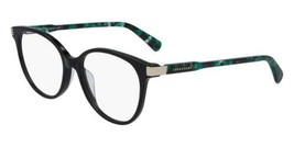 NEW Longchamp LO2637 004 Black & Green Marble Eyeglasses 52mm with Case - $69.25