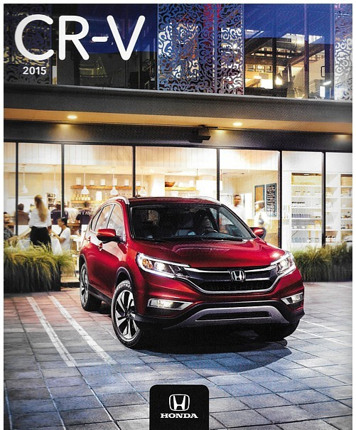Primary image for 2015 Honda CR-V sales brochure catalog 15 CRV LX EX EX-L Touring