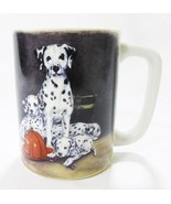 Vintage Otagiri coffee mug japan dalmatian fireman dog linda picken coll... - $14.81