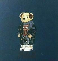 "Polo Ralph Lauren Winter Bear Navy logo Throw Blanket 50"" x 70"" nwt - $146.05"
