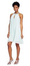 Adrianna Papell New Womens Dusty Mint Embellished Chiffon Capelet  Dress... - $117.81