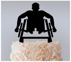 Decorations Cake topper,Cupcake topper,sportsman-racing-wheelchair : 11 pcs - $20.00