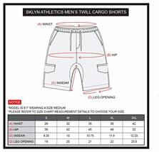 BROOKLYN ATHLETICS Men's Cargo Slim Fit Multi Pocket Stretch Twill Short, Navy,  image 4