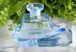 LARGE-Vintage-Light-Blue-Perfume-Scent-Bottle-DAUBER-Intact-Signed-Colle... - $229.99