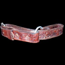 Vintage Figure 8 Tooled Leather 1-1/2 Inch Wide Strap Hobbles 31-1/2 Inc... - $54.99
