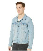 Levi's Men's Classic Button Up Denim Jeans Trucker Jacket Blue Stretch 723340323 image 3