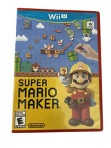 Super Mario Maker (Nintendo Wii U, 2015) With Case  TESTED Working - $19.75