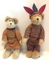 Boyds Bears Little Running Bear & Princess Plush Stuffed Animal Collectibles Set - $37.08