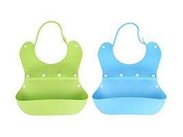 Lovely Waterproof Comfortable Baby Bib/Pinafore For Baby(Green+Blue)