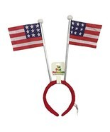 Two (2) 4th of July Novelty Hat Headband with Flags The Great Pretendears - $15.12