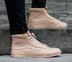 VANS Sk8 Hi Slim Cutout (Square Perf) Amberlight Leather Womens Shoes 8.5 - $59.95