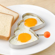 Tools Heart Shaper Ring Novelty Kitchen Stainless Steel Egg Mold Pancake - $8.08 CAD