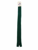 "Beulon by YKK Zipper Vintage 9"" Dark Green 9 Inches Polyester Knit Made ... - $4.00"