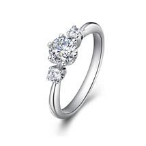 Engagement ring moissanite wedding ring 14K gold promise ring - £385.08 GBP