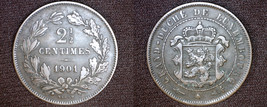 1901 Luxembourg 2.5 Centimes World Coin - BAPTH - $9.99