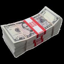 $1,500 - $5 Full Print Aged Fake Bills Bundle Poker Game Prank Music Video  - $24.99