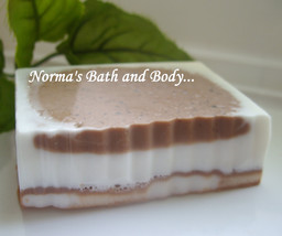 chocolate and cinnamon goats milk soap, soap, homemade soap, homemade so... - $4.75