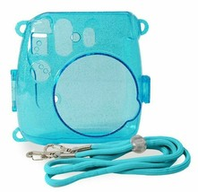 ATNY Instax Instant Camera Blue or Silver Hard Shell Case with Adjustable Strap