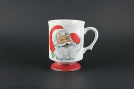 Lefton Merry Christmas Santa Coffee Cup Mug Vintage Japan Holiday #7235 - $14.85