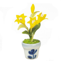 DOLLHOUSE MINIATURES LILY IN POT #G7816 - $9.50