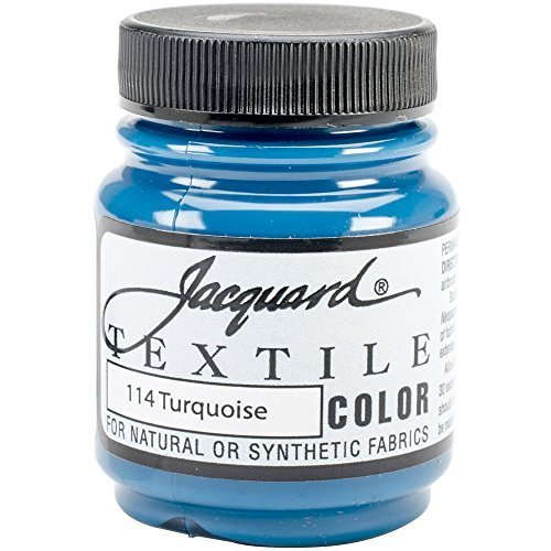 Jacquard Products Jacquard Textile Color Fabric Paint, 2.25-Ounce, Turquoise