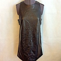 Forever 21 Pleather Mini Dress Size S Small Black Side Banded Short Slee... - $20.49