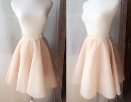 White Tulle Midi Skirt Women Knee Length White Tutu Skirt Outfit Street Style image 6