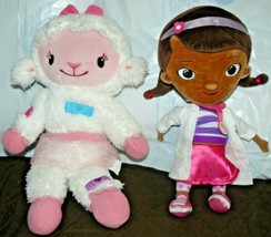 "Disney Doc MCStuffins 13"" Plush Doll & Talking Lights up Lambie Plush 15"" - $26.92"
