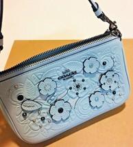 NWT COACH F12055 Nolita 19 Wristlet Tea Tool App Wallet Pale Blue Bags S... - $163.63