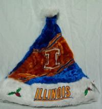 University Of Illinois Ncaa Holiday Christmas Santa Hat New w/ Tag - $14.85