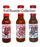 Gourmet Evil Rooster Series  Chilli Hot Sauces - 3x 150ml Carolina Reape... - $30.86
