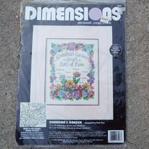 "Dimensions Grandma's Garden 11"" x 14"" Cross Stitch Kit NWT 1995 - $17.43"