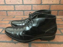 Cole Haan Black Patent Leather Chukka Boots 9.5 - $35.73