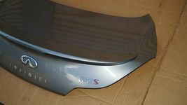 08-13 Infiniti G37 Coupe Rear Trunk Lid Tail Gate W/ Spoiler & Back-Up image 3