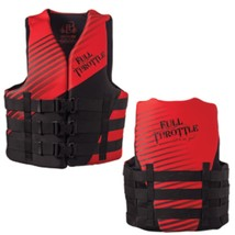 Full Throttle Rapid Dry PFD - Adult 2XL/4XL - Red/Black - $57.65