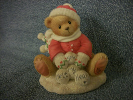 """1997 Cherished Teddies TED """"Snow Fun When You're Not Around"""" 7D7/315 Enesco - $6.91"""