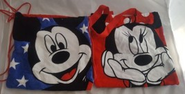 Disney Mickey Mouse Minnie Mouse Red Drawstring Beach Travel Bag  - $24.70
